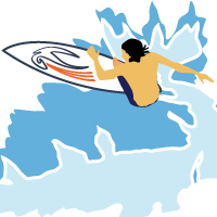 Surfer of DragonXi powered by Artificial Intelligence (AI)